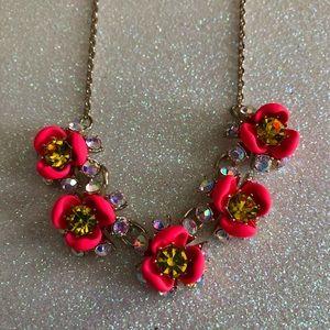 Betsey Johnson Neon Flower Necklace